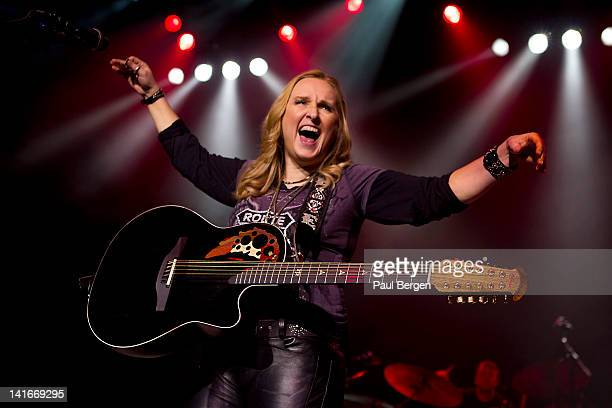 American singer and musician Melissa Etheridge performs live on stage at Vredenburg in Utrecht Netherlands on 22nd February 2012
