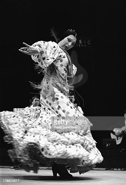 22nd: Flamenco dancer Milagros Mengibar performs at Vredenburg in Utrecht, Netherlands on 22nd April 1989.
