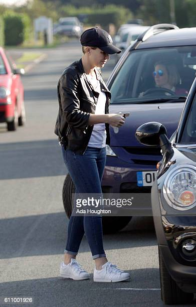 LONDON ENGLAND SEPTEMBER 22nd Former Pop star Claire Richards is seen out with a new short haircut on September 22 2016 in London England