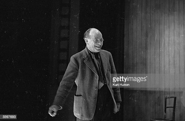 Marcel Varnel at his latest show 'Halfway to Heaven' rehearsals at the Princes Threatre London Original Publication Picture Post 1606 A Producer...