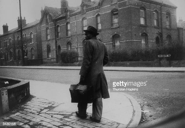 A recent emigrant from Jamaica arrives in Birmingham looking for work and lodgings Original Publication Picture Post 7482 A British Colour Conflict...