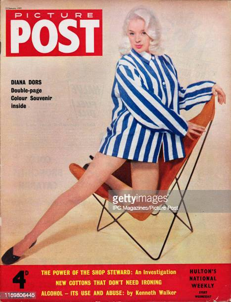 English film actress and singer Diana Dors is featured for the cover of Picture Post magazine. Original Publication: Picture Post Cover - Vol 66 No...