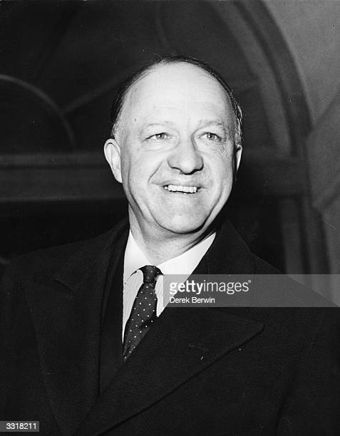 Home secretary Baron Butler, Richard Austen Butler , arriving at Church House, Westminster for a private conservative meeting.
