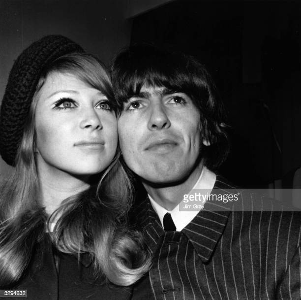 Beatles guitarist George Harrison and his wife of one day 21 year old model Patti Boyd The couple held a press reception a day after their marriage...