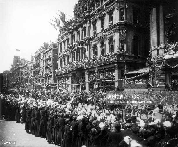 The Diamond Jubilee procession of Queen Victoria