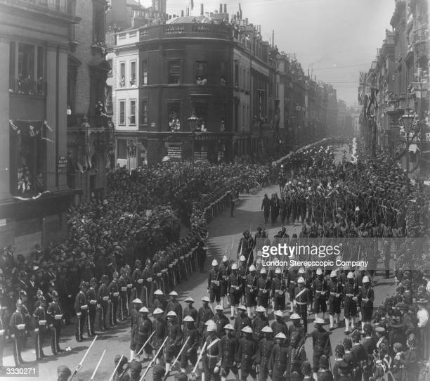 The Hong Kong and Straits Settlement contingent parading in Queen Victoria's Diamond Jubilee procession in London