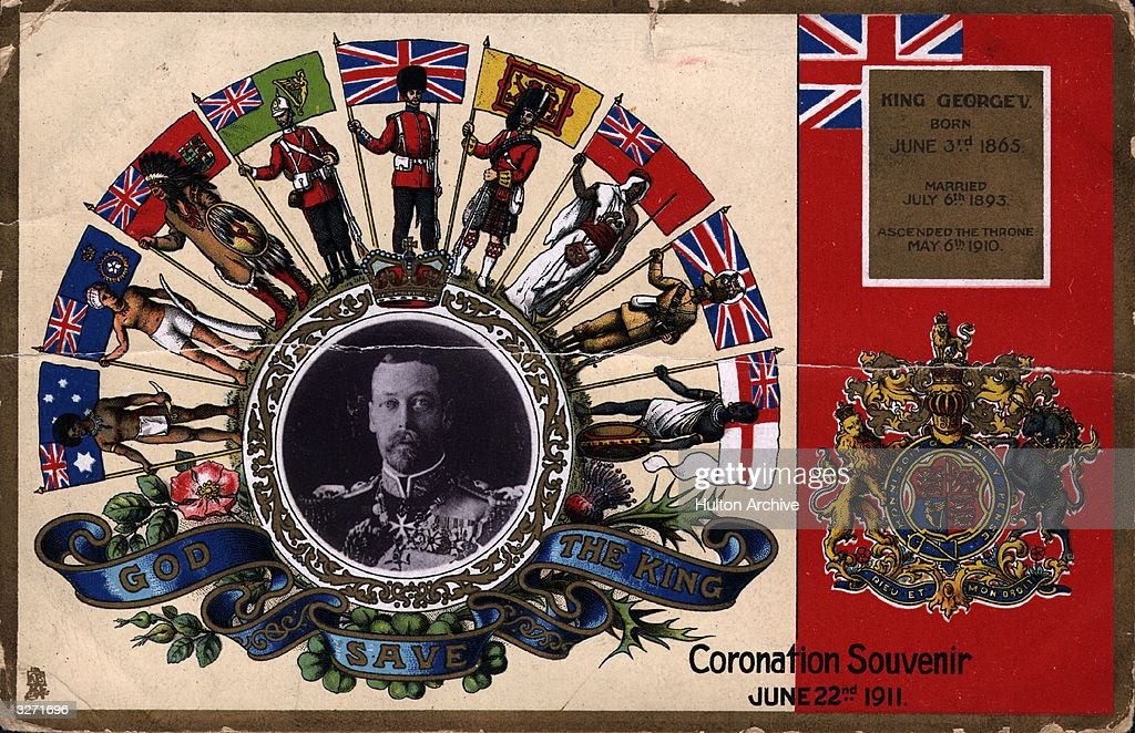 A postcard souvenir of the coronation of George V.
