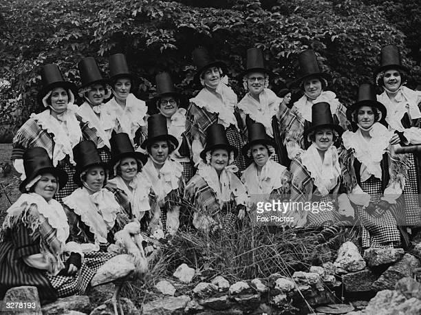 A Welsh ladies choir in national dress