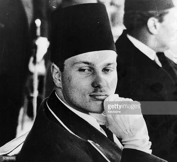 King Farouk I in a pensive moment