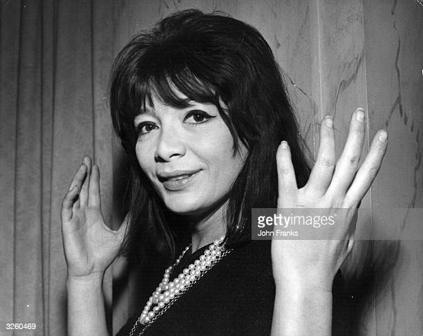 French actress Juliette Greco at the Savoy Hotel