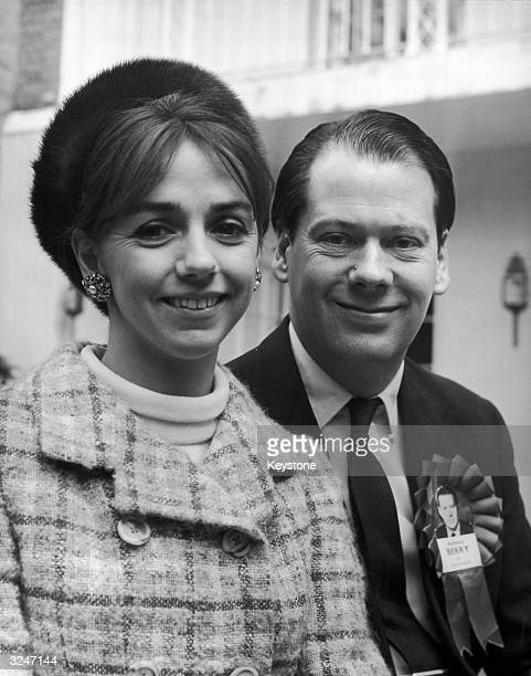 The Honourable Anthony George Berry the Conservative MP for Southgate with his fiancee Miss Sarah Anne CliffordTurner