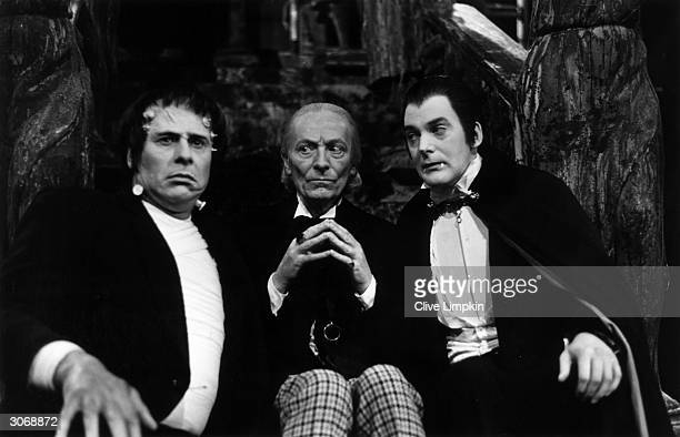 William Hartnell stars as the doctor alongside Dracula and Frankenstein's monster in 'The Chase' an episode of the longrunning television series 'Dr...