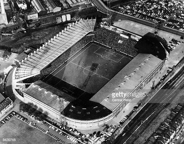 The football stadium at Old Trafford Manchester home of the Manchester United football team and one of the venues for the 1966 World Cup