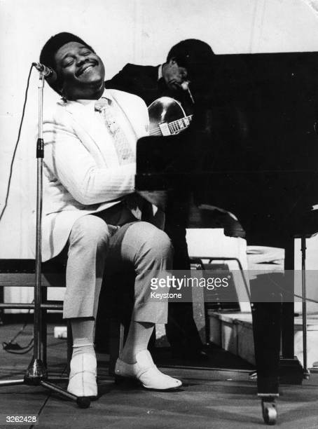 Legendary American jazz pianist and singer Fats Domino in concert at Stockholm Sweden