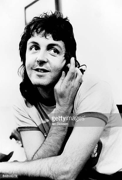 English musician Paul McCartney from Wings posed backstage at Newcastle City Hall in England on 22nd May 1973