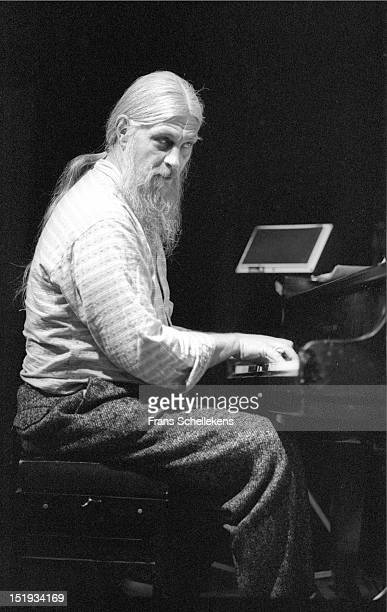 22nd MAY: South African jazz pianist Chris McGregor performs live on stage at the Bimhuis in Amsterdam, Netherlands on 22nd May 1987.