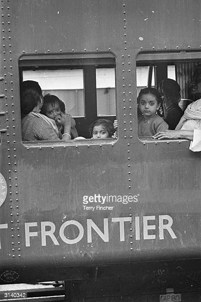 Refugees arriving by train at Tezpur in India during border clashes with China