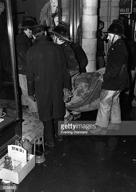 Bodies being recovered from the 'Tavern in the Town' public house in Birmingham after an explosion in the bar from a bomb placed by the IRA