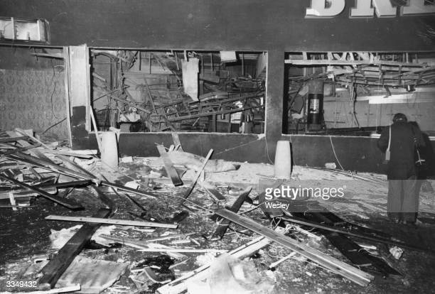 The wrecked interior of the Mulberry Bush public house Birmingham after the explosion of a bomb planted by the IRA Another bomb exploded on the same...