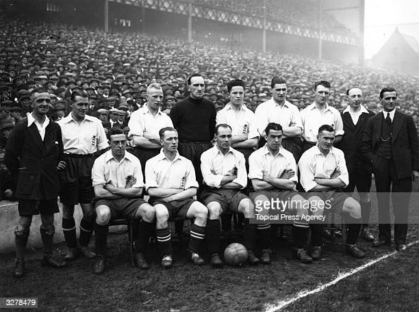 The England team before their match against Ireland at Goodison Park, which they went on to win 2-1.