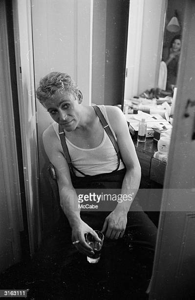 Irish actor Peter O'Toole during the opening night of 'Hamlet' at the Old Vic. This was the inaugural production of the National Theatre Company,...