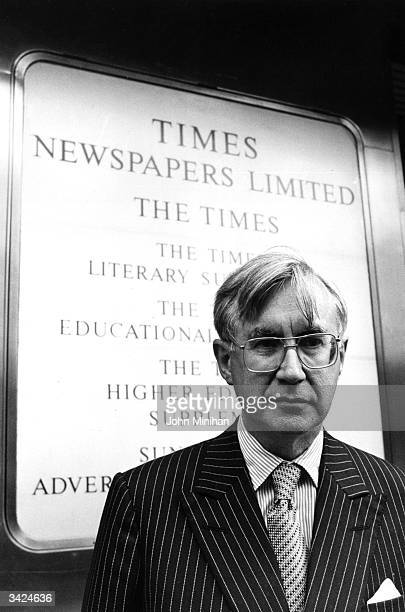 British journalist and editor of the Times newspaper William ReesMogg