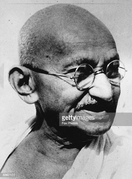 Indian thinker and nationalist leader Mahatma Gandhi at his residence at Delhi on his 78th birthday