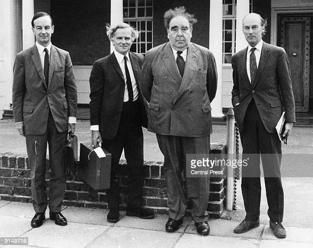 Daily Mirror Industrial Editor Lord Goodman and his team in Salisbury Rhodesia after talks with the Rhodesian government