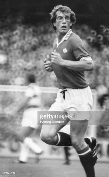 Footballer Stewart Houston of Manchester United FC