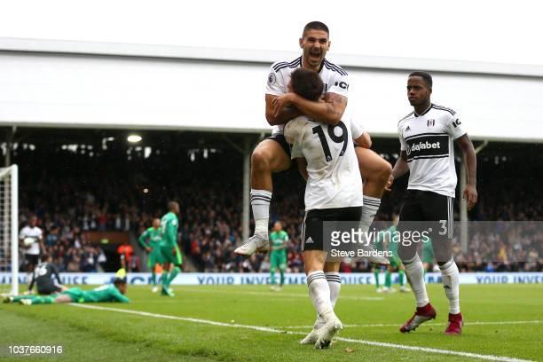 22nd September 2018 Craven Cottage London England EPL Premier League football Fulham versus Watford Ryan Sessegnon of Fulham spitting blood after...