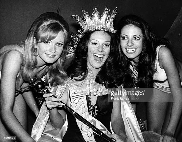 Year old Brazilian Lucia Petterie crowned Miss World 1971, at the Royal Albert Hall in London. Marilyn Ann Ward, Miss United Kingdom was second and...