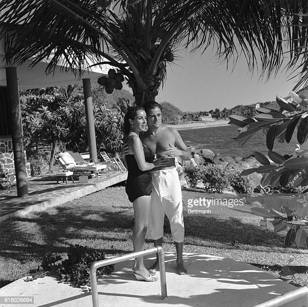 2/3/1957Acapulco Mexico Picture shows Mike Todd and Elizabeth Taylor on their Honeymoon in Mexico