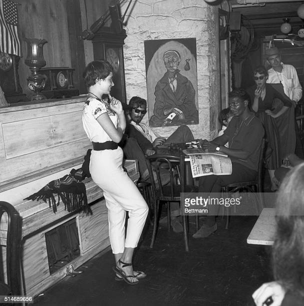 A Series of photos depicting the life of beatniks in New York's Greenwich Village Photo shows inside of the Gaslight Coffee Shop BPA2# 1917