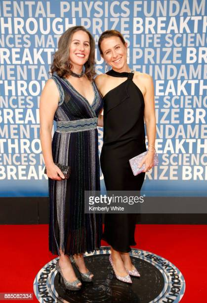 23andMe CEO Anne Wojcicki and Anthropologist Janet Wojcicki attend the 2018 Breakthrough Prize at NASA Ames Research Center on December 3 2017 in...