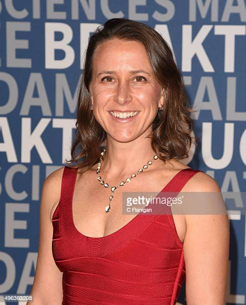 23andMe CEO Anne Wojcicki arrives at the 3rd Annual Breakthrough Prize Award Ceremony at NASA Ames Research Center on November 8 2015 in Mountain...