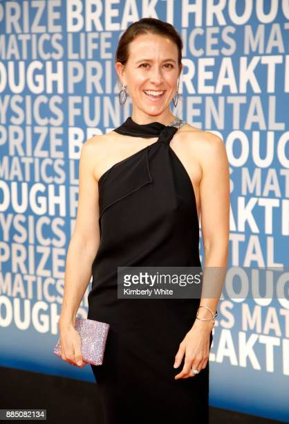 23andMe CEO Anne Wojcicki attends the 2018 Breakthrough Prize at NASA Ames Research Center on December 3 2017 in Mountain View California