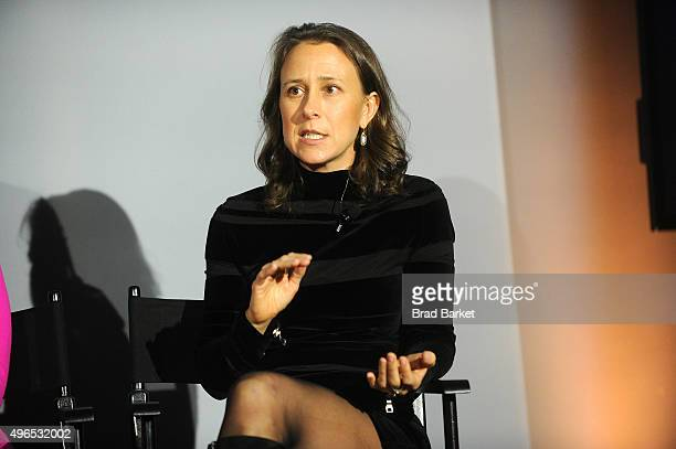 23andMe CEO Anne Wojcicki speaks on stage during 'The Fast Company Innovation Festival' Data Drugs The New Evolution Of Drug Making With 23andMe And...