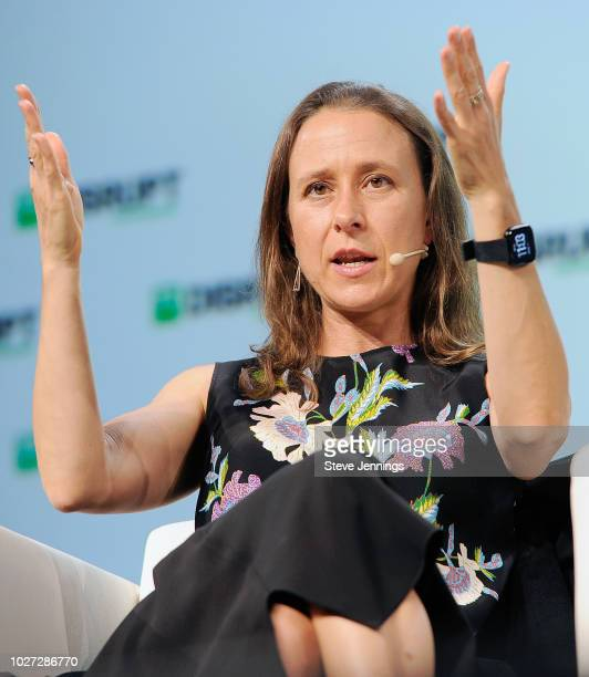 23andMe CEO Anne Wojcicki speaks onstage during Day 1 of TechCrunch Disrupt SF 2018 at Moscone Center on September 5 2018 in San Francisco California