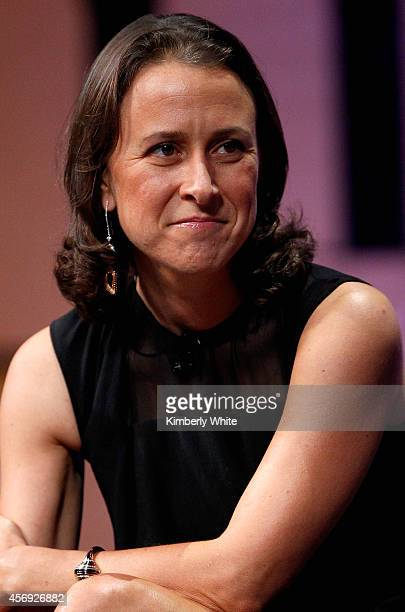 23andMe CoFounder Anne Wojcicki speaks onstage during A New Vision for Philanthropy at the Vanity Fair New Establishment Summit at Yerba Buena Center...
