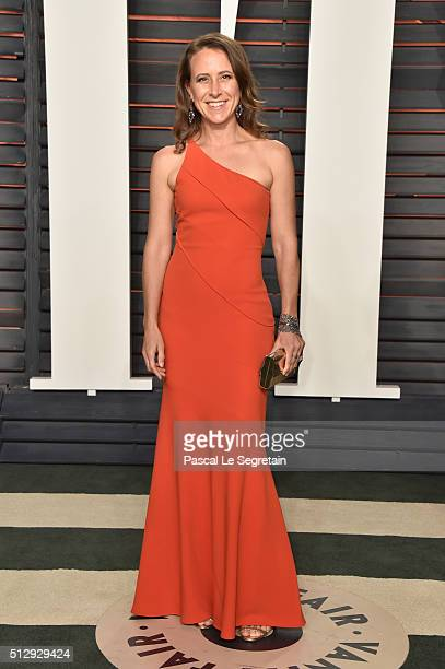 23andMe founder Anne Wojcicki attends the 2016 Vanity Fair Oscar Party Hosted By Graydon Carter at the Wallis Annenberg Center for the Performing...