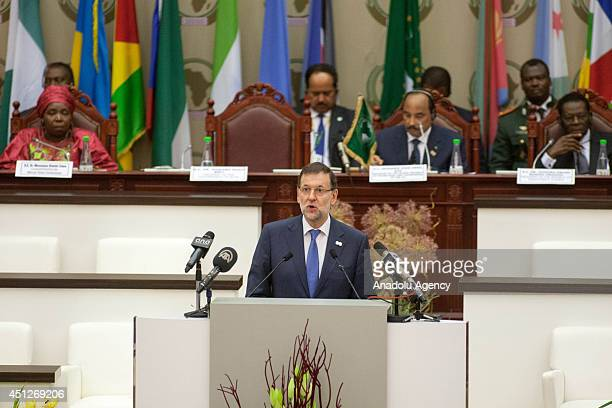 23rd African Union Summit starts in Malabo Equatorial Guinea on June 26 2014 Spanish Prime Minister Mariano Rajoy is seen during the summit