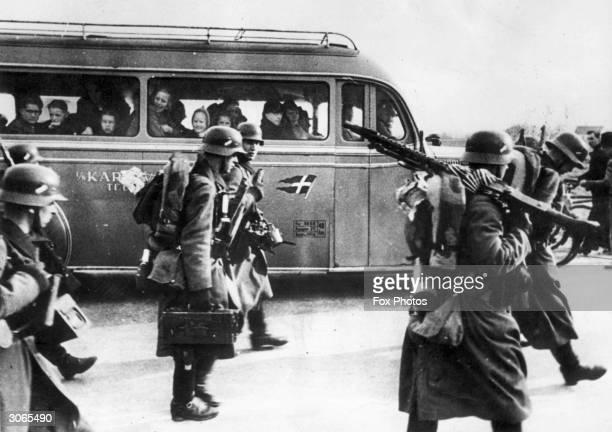 German soldiers enter Denmark