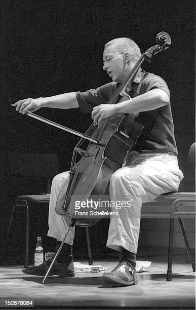 23rd APRIL: Dutch cellist Ernst Reijseger performs live on stage at Vredenburg in Utrecht, Netherlands on 23rd April 1987.