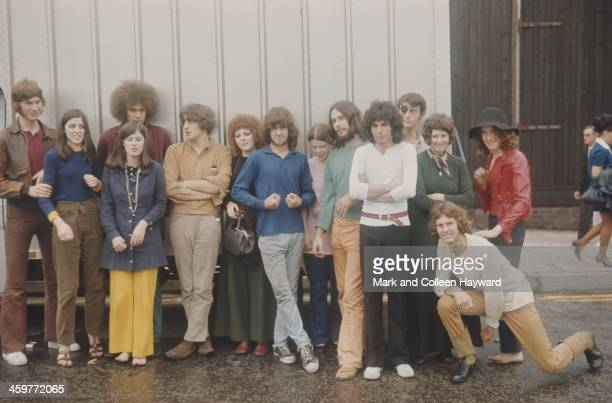 Members of English group Ibex posed in Bolton Lancashire on 23rd August 1969 Left to right Paul 'Flogger' Fielder Mike Bersin Sian Ollett Ken Testi...