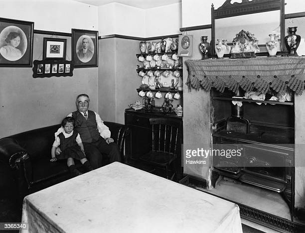 A kitchen in a modern tenement house in Bethnal Green London