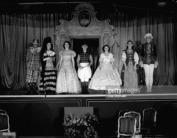 Princesses Margaret and Elizabeth with Principles in 'Old Mother Red Riding Boots' a pantomime that is playing at Windsor Castle