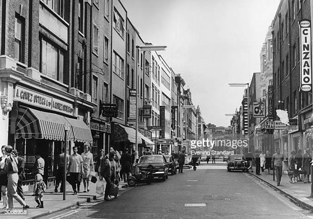 Old Compton Street in London's Soho.
