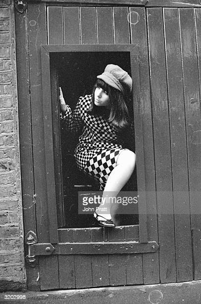 Fifteen yearold Adrienne Posta film and television actress and pop singer She later played roles in 'Up The Junction' and ' To Sir With Love'