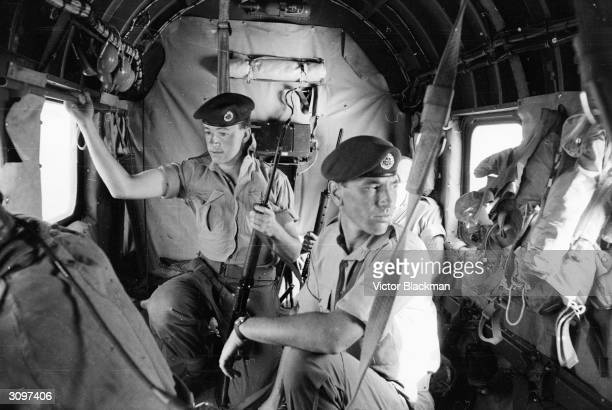 RAF helicopters bring food and supplies to army outposts in Aden and rescue the wounded during the country's war for independence