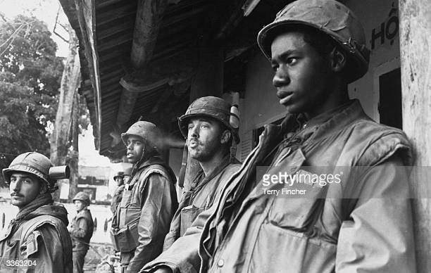 American Marines at the Forward Command Post in Hue city